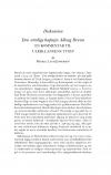 HT 2016:2, s. 437-441 + 441-444 - Mikkel Leth Jespersen: Den utrolige kaptajn Allong Bruun. En kommentar til Ulrik Langens Tyven + Ulrik Langen: Forsvar for kaptajn Allong Bruun. En replik til Mikkel Leth Jespersen