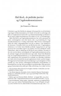 HT 2016:2, s. 370-398 - Jes Fabricius Møller: Hal Koch, de politiske partier og Ungdomskommissionen