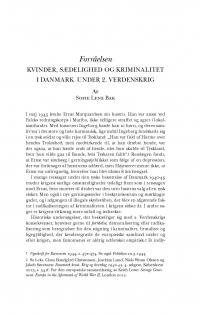 HT 2016:2, s. 399-435 - Sofie Lene Bak: Forråelsen. Kvinder, sædelighed og kriminalitet i Danmark under 2. Verdenskrig