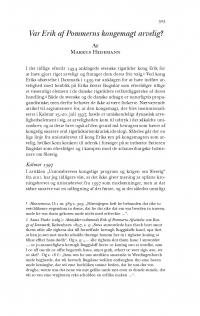 HT 2017:2, s. 503-530 - Markus Hedemann: Var Erik af Pommerns kongemagt arvelig?