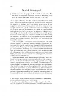 HT 2018:2, s. 488-494 - Harald Gustafsson: Nordisk historiografi