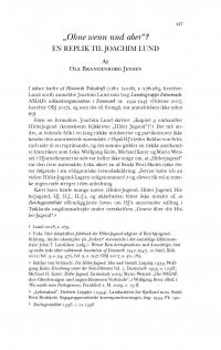 """HT 2018:2, s. 447-452 - Ole Brandenborg Jensen: """"Ohne wenn und aber""""? En replik til Joachim Lund"""
