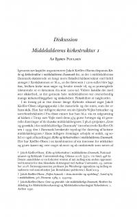 HT 2019:1, s. 155-167 + 168-172 - .Bjørn Poulsen: Middelalderens kirkestruktur 1 + Ebbe Nyborg: Middelalderens kirkestruktur 2