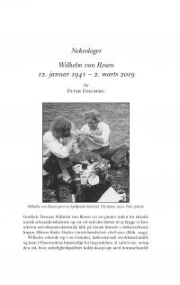 HT 2019:2, s. 611-616 - Peter Edelberg: Wilhelm von Rosen 12. januar 1941 – 2. marts 2019.