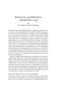HT 2020:2, s. 447-464 - Ulla Kjær og Isabelle Brajer: Kontroverser om kalkmalerier i Burkal kirke i 1945