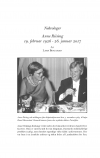 HT 2018:1, s. 180-185 - Lars Bisgaard: Anne Riising 19. februar 1926 - 26. januar 2017