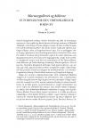 HT 2020:2, s. 512-522 - Thomas Lyngby: Marmorgalleriet og kilderne. Et forsvar for den videnskabelige fornuft
